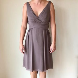 Taupe Wtoo by Watters bridesmaid dress